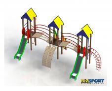 Детский игровой комплекс Трехбашенный (стандарт) Biz-703