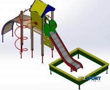 Выбрать и купить игровой комплекс Пирамида Biz-804