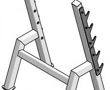 Стойка для грифов пристенная для набора из 5 шт. ТС-123